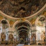 Interior de Abbey Cathedral en StGallen Fotografía de archivo