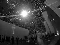 Interior de Abu Dhabi del Louvre Fotografía de archivo