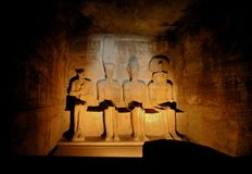 Interior de Abu Simbel Imagem de Stock Royalty Free