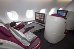 Interior de Airbus Imagen de archivo libre de regalías