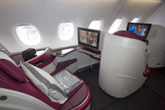Interior de Airbus Imagem de Stock Royalty Free