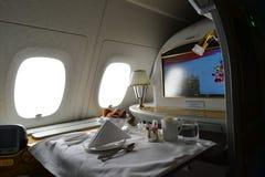 Interior de Airbus A380 dos emirados Imagem de Stock Royalty Free