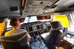 Interior de Airbus A380 dos emirados Imagem de Stock