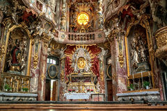 Interior de Asamkirche em Munic Foto de Stock Royalty Free