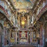 Interior de Asamkirche en Munich, Alemania foto de archivo libre de regalías