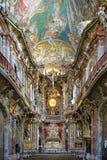 Interior de Asamkirche en Munich, Alemania fotografía de archivo libre de regalías