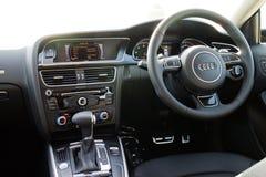 Interior de Audi A5 2015 Imagen de archivo libre de regalías