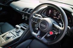 Interior de Audi R8 2016 Foto de archivo