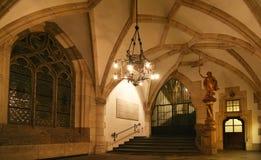 Interior de ayuntamiento Foto de archivo libre de regalías