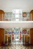 Interior de ayuntamiento de Aarhus (iii), Dinamarca Imagenes de archivo