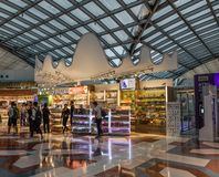 Interior de Banguecoque Suvarnabhumi BKK imagem de stock royalty free