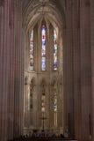 Interior de Batalha, Portugal Imágenes de archivo libres de regalías
