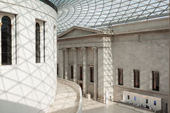 Interior de British Museum en Londres Imagen de archivo