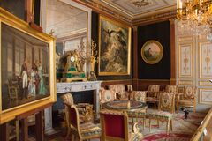Interior de Castelo de Malmaison, França foto de stock royalty free