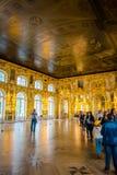 Interior de Catherine Palace em St Petersburg, Rússia foto de stock