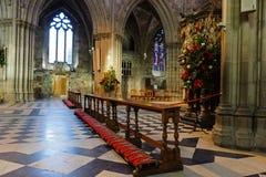Interior de Cathredral en Worcester, Reino Unido fotografía de archivo