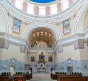 Interior de Charles Borromeo Church en el cementerio central de Vienn Fotos de archivo libres de regalías