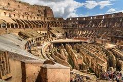 Interior de Colosseum ou de Flavian Amphitheatre em Roma Italy imagem de stock royalty free