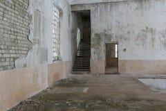 Interior de construção abandonado Imagens de Stock Royalty Free
