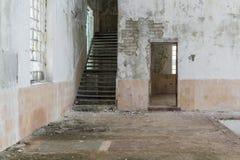 Interior de construção abandonado Imagem de Stock Royalty Free