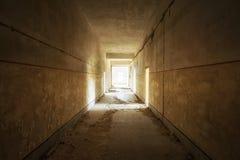 Interior de construção abandonado Foto de Stock Royalty Free