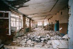 Interior de construção abandonado Desastres de Chernobyl Imagem de Stock
