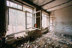 Interior de construção abandonado Desastres de Chernobyl Imagens de Stock Royalty Free