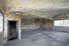 Interior de construção abandonado velho, processamento do hdr. Imagem de Stock