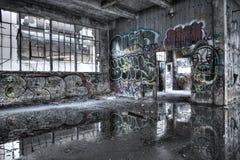 Interior de construção dilapidado Fotografia de Stock