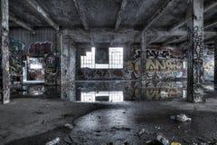 Interior de construção dilapidado Fotografia de Stock Royalty Free