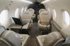 Interior de couro do NG de Pilatus PC-12 Fotos de Stock Royalty Free