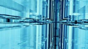 Interior de cristal liso representación 3d ilustración del vector