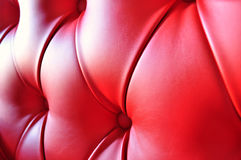 Interior de cuero rojo Fotografía de archivo libre de regalías
