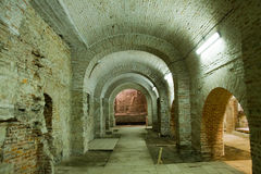 Interior de Curtea Veche (a corte principesco velha) imagem de stock royalty free
