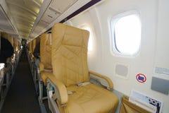 Interior de Darwin Airline Saab 2000 Imagens de Stock