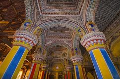 Interior de Durbar Salão, palácio de Thanjavur Maratha, Thanjavur, Tamil Nadu, Índia Fotos de Stock