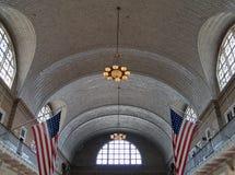 Interior de Ellis Island Immigration Museum foto de stock royalty free