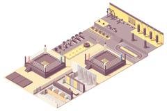 Interior de encajonamiento isom?trico del gimnasio del vector stock de ilustración