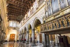 Interior de Enna Cathedral Duomo di Enna, Sicília, Itália Imagem de Stock Royalty Free