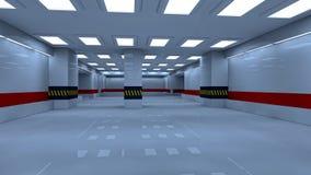 Interior de estacionamento ilustração stock