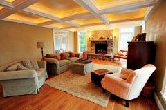 Interior de gama alta da sala de visitas fotografia de stock royalty free