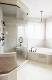 Interior de gama alta do banheiro foto de stock