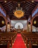 Interior de Grace United Methodist Church imagen de archivo libre de regalías