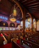 Interior de Grace United Methodist Church imágenes de archivo libres de regalías