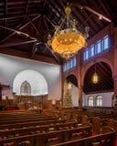 Interior de Grace United Methodist Church imagen de archivo