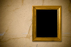 Interior de Grunge con el marco de la vendimia Imágenes de archivo libres de regalías