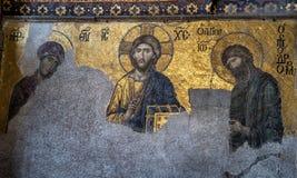Interior de Hagia Sophia em Istambul Turquia - backgrou da arquitetura Imagens de Stock