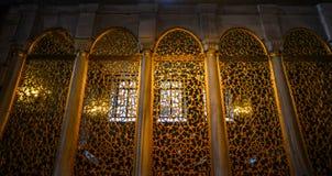 Interior de Hagia Sophia em Istambul, Turquia imagem de stock royalty free