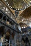 Interior de Hagia Sophia en Estambul, Turquía Imagen de archivo libre de regalías