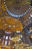 Interior de Hagia Sophia en Estambul Turquía Imágenes de archivo libres de regalías